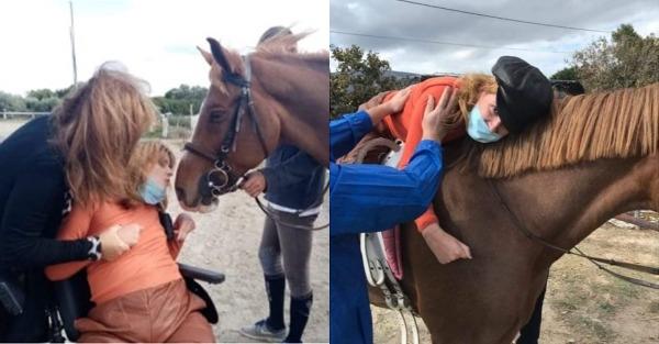 Συγκίνηση: Η Μυρτώ της Πάρου επιχειρεί να κάνει ιππασία για πρώτη φορά